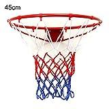 ZUINIUBI Wand montiert zum Aufhängen Basketball Ziel Hoop Rand Metall Netz 32cm, 45cm