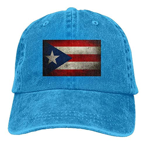 Baseball Cap for Men and Women, Retro Puerto Rican Flag Design and Adjustable Back Closure Trucker Hat