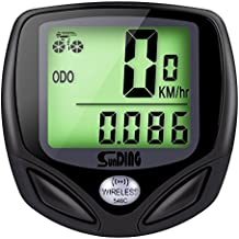 GHB Ciclocomputador Inalámbrico Impermeable para Bicicleta Velocímetro Cuentakilómetros con LCD Retroiluminada Color-Negro