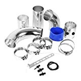 Yosoo Kit Montaggio Filtro tubo di aspirazione a induzione , con tubo di aspirazione aria fredda e filtro d'aria per auto , in alluminio universale