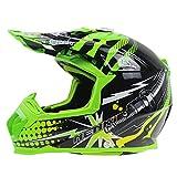 GTYW Offroad-Helm Hochleistungs-Profi-Motorradhelm Racing Offroad-Helm Enduro-Helm Schutzhelm,Green-M=54-57cm