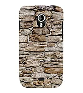 EPICCASE stone wall Mobile Back Case Cover For Micromax Canvas 2 A110 (Designer Case)