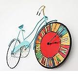 LWZY Fahrrad Uhr,Wanduhr Metallrahmen Wanddekorationen Für Bar-A 12Zoll