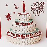 SimpleLife Pop up 3D Grußkarte Geburtstagskarte Geburtstagskarte Valentinstag Geburtstag Rot