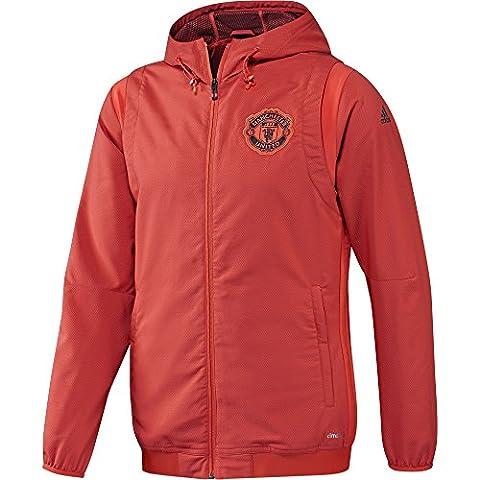 adidas Manchester United FC EU PRE JKT - Veste pour Homme, couleur Rouge, taille XS