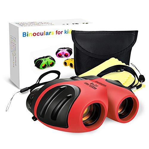 EUTOYZ Geschenke für Mädchen ab 3-12 Jahre, Kompakt Fernglas Kinder Spielzeug für Jungen 3-12 Jahre 3-12 Jahre Mädchen Spielzeug 3-12 Jahre Jungen Jugendlich Geschenk Geburtstag Rot (Für Ab 10 Mädchen Spielzeug)