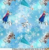 Jersey Stoffe Frozen Anna, Olaf, Sven und ELSA 1,00m x VB