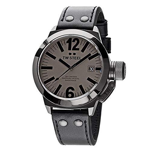 TW Steel Reloj analogico para Hombre de Cuarzo con Correa en Acero Inoxidable CE1051