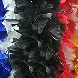 Vanker - Boa de plumas hecha a mano, Mujer, color negro, tamaño talla única
