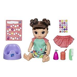 Baby Alive Potty Dance Baby Talking Baby Muñeca con Pelo marrón, Orinal, recompensa gráfica, Undies y más, muñeca Que pea en su Orinal, para niñas y niños de 3 años de Edad y hasta