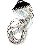 Blesiya 12pcs Collane di Perla Perline Cordini Catenine Titolare per Occhiali