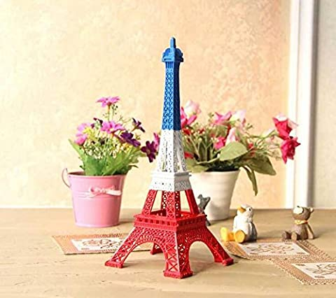 K&C Eiffel Tower Decor, Dadoudou Creative 18cm Iron Metal Paris Eiffel Tower Model Figurine Statue (Archi Wall Art)