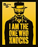 Pyramid International I Am The One Who Knocks Breaking Bad Mini-Poster, Kunststoff/Glas, Mehrfarbig, 40 x 50 x 1,3 cm