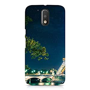 Hamee Designer Printed Hard Back Case Cover for Motorola Moto Z Play Design 5548