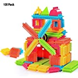 NEEDOON 100pcs Bristle Blocks Set Toddlers Buliding Creative Active Entertainment Toys for Boys Girls