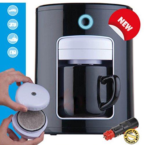 All Ride Kaffeemaschine Kaffeeautomat Kaffeepadmaschine PKW 12V/145W (Automatische Abschaltung Kaffeemaschine)