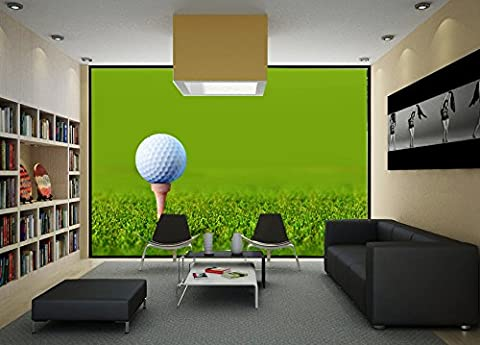 Startonight Mural Wall Art Photo Decor Golf Green Field Large 2.58 m x 3.66 m Wall Mural for Living Room or Bedroom