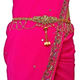 #3: Traditional gold polished kamarpatta, Kamar chain, tagdi, Kardhani, bellychain, waist chain, hip chain, Kamarband, gold polished ottiyanam vaddanam waistchain, ottiyanam, waist jewellery gives women and Girls a stylish and trendy look