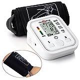 Arm Blutdruck Monitor, Auoker Digital LCD Arm Manschette Blut Puls Druck Monitor Blutdruckmessgerät, unregelmäßiger Herzschlag Detektor für Eltern / Erwachsene / Familie, Weiß