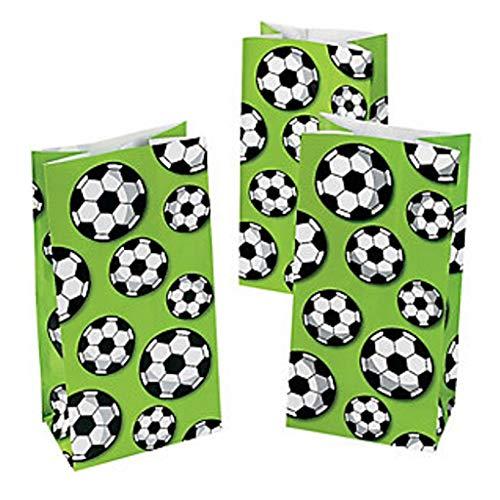 Elfen und Zwerge - Geschenktüten Fußball - Verpackung für Geschenke - als Mitgebsel für Kindergeburtstag - aus Papier - 12 Stück