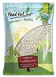 Food to Live Frijoles blancos Bio certificados (Eco, Ecológico, porotos, alubias, no OMG, Kosher, a granel) 2.3 Kg