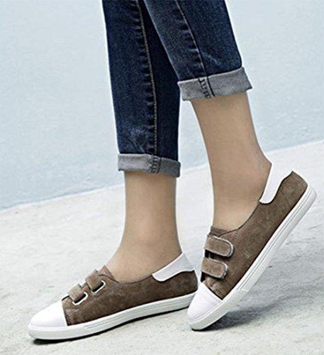 Frau flache Schuhe Student Schuhe fallen Turnschuhe Freizeitschuhe coffee