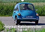 Heinkel Kabinenroller Typ 154 (Wandkalender 2018 DIN A4 quer): klein aber fein (Monatskalender, 14 Seiten ) (CALVENDO Mobilitaet) [Kalender] [Apr 01, 2017] Laue, Ingo