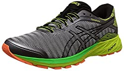 Asics Mens Dynaflyte Mid Grey, Black and Safety Yellow Running Shoes - 6 UK/India (40 EU)(7 US)