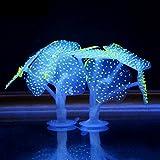 Saebye GlüHen Wirkung KüNstliche Koralle Anlage FüR Aquarium Dekorationen Fisch Tank Dekor Ornament
