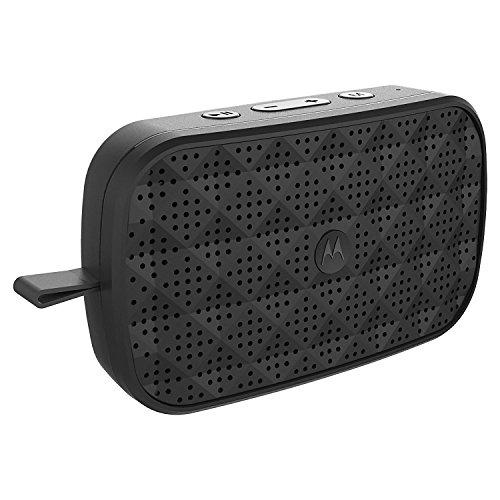 Motorola Sonic Play 150  Bluetooth Lautsprecher mit  • Stereo Sound Qualität  • FM Radio  • Freisprecheinrichtung | 4 Stunden Spielzeit | 15 Meter Reichweite | Schwarz Motorola Bluetooth Stereo