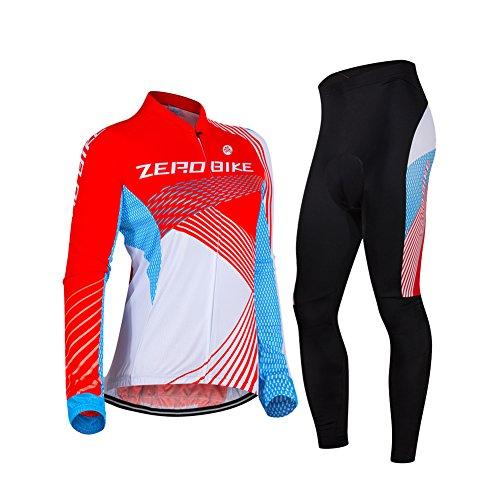Reg Sportswear (ZEROBIKE® Frauen im Freiensport bequeme im Freien einen.Kreislauf.durchmachende Breathable lange Hülse Sportswear einen Kreislauf durchmachenJersey)