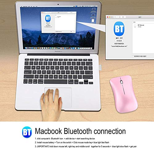 T23F, das stille Bluetooth-Maus auflädt Dual Mode Bluetooth 2.4G Wireless Mouse - Pink