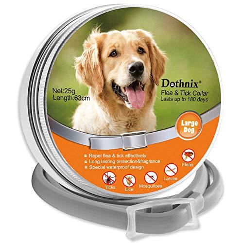 dothnix Zeckenhalsband für Hunde, Zecken Halsband Flohhalsbänder, 8 Monate Schutz, Anti-Zecken und Anti-Flöhe,mit Pinzette für Haustiere (63cm)