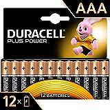 Duracell Plus Power AAA, Batterie Ministilo Alcaline, Confezione da 12