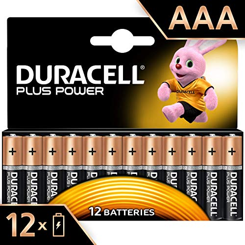 Duracell Plus Power Piles Alcalinestype AAA, Lot de 12 piles