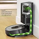 iRobot Roomba i7+ (i7556) Robot aspirapolvere WiFi, svuotamento automatico, adatto per chi ha animali domestici, memorizza la planimetria della casa, programmabile, contenitore lavabile, argento