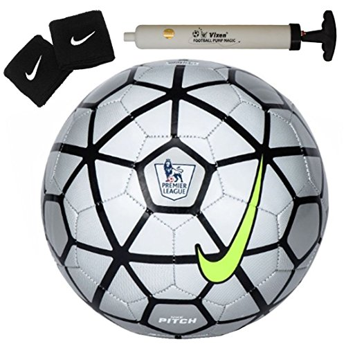 Larjonna Nike strike Pitch PL replica Silver/Black Football Size-5  available at amazon for Rs.629