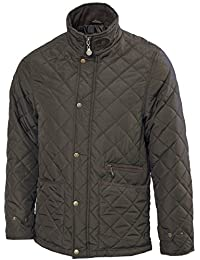 VEDONEIRE Mens Fleece lined Quilted Jacket (3059) NAVY or GREEN padded coat