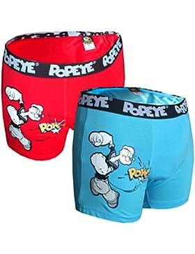 POPEYE 2er Pack Boxershorts Rot und Blau Seemann