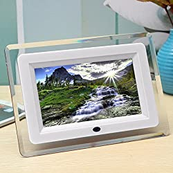 Mohoo 7 pollici Cornice digitale/Digital Photo frame LCD Remote Control Digital Photo Frame MP3 MP4 bianco