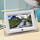 INSMA 7 pollici Cornice digitale/Digital Photo frame LCD Remote Control Digital Photo Frame MP3 MP4 bianco