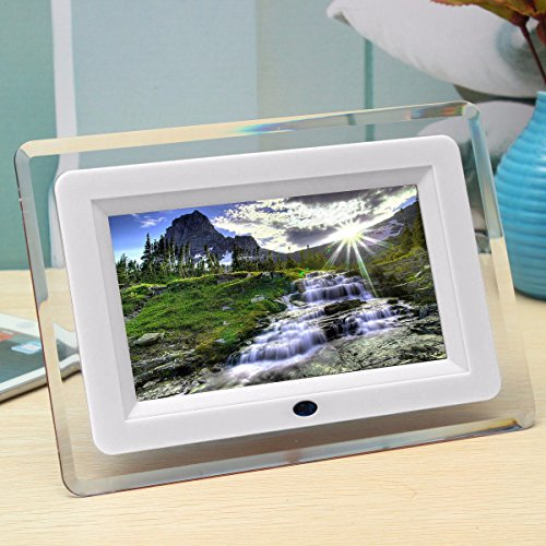 Mohoo 7 pollici Cornice digitale/Digital Photo frame LCD Remote Control Digital Photo Frame MP3 MP4 bianco