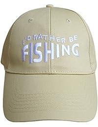 Men's Novelty I'd Rather Be Fishing Summer Baseball Cap Sun Hat