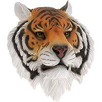 Large Wall Mountable Tiger Head Hang Animal Ornament Decoration Realistic Display