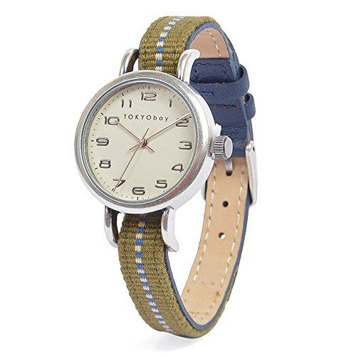 tokyobay-t394-nv-de-femmes-bande-en-nylon-bicolore-en-acier-inoxydable-cadran-blanc-montre-intellige