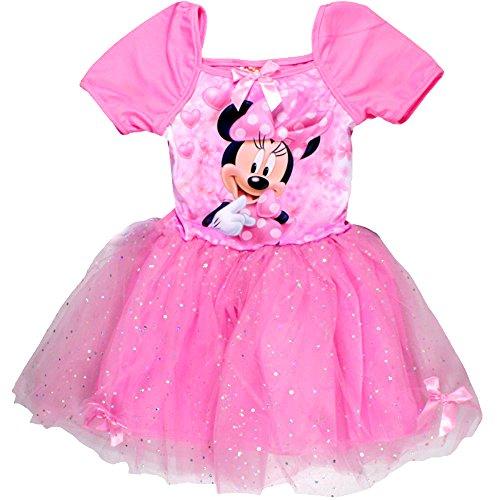 leid Kurzarm mit Glitzer (128) Pink (Disney Daisy Duck Kostüm)