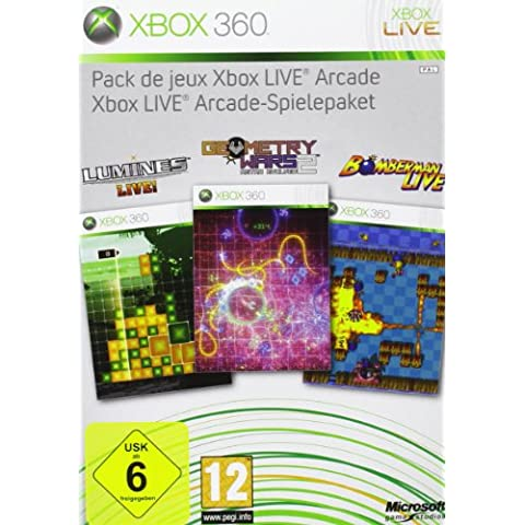 Xbox Live Arcade Spielepaket 4 Spiele Lumines, Geometry Wars, Bomberman Live + MS. Pac-Man + 48 h X-LiveGoldabo [Edizione: Germania]