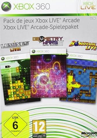 Pack de jeux Xbox Live Arcade (Lumines, Geometry Wars, Bomberman Live + MS. Pac-Man + 48 h X-LiveGoldabo) multilingual [import allemand]