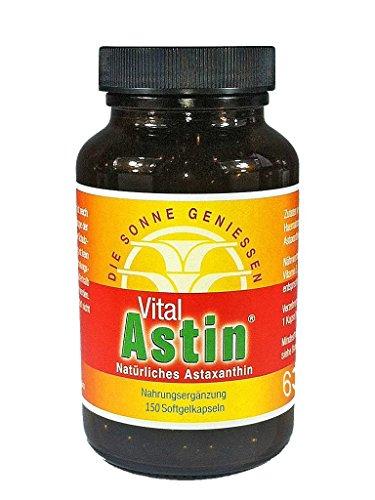 Astaxanthin - versandkostenfrei - VitalAstin 150 Kapseln - Das Original Ivarssons VitalAstin mit 4 mg natürlichem Astaxanthin (Astaxanthin Softgels)