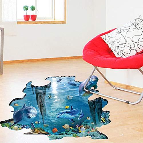 Personalidad Creativa Diy Wall Paper Cartoon Dolphins Buscando Nemo Pegatinas De Pared Decoración Para El Hogar 3D Mundo… 12